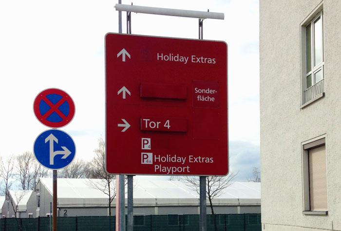Flughafen Dresden P4A Bestpreis Parken Außenparkplatz