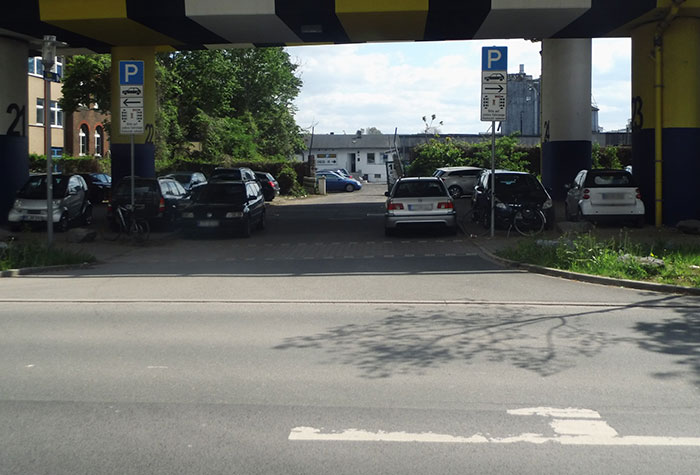 Primus Parken offene Parkhalle Düsseldorf