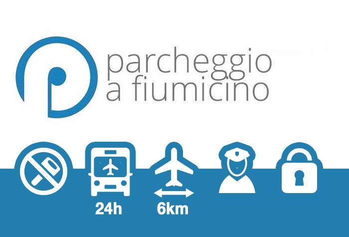 Parcheggio a Fiumicino Parkplatz | Ohne Schlüsselabgabe