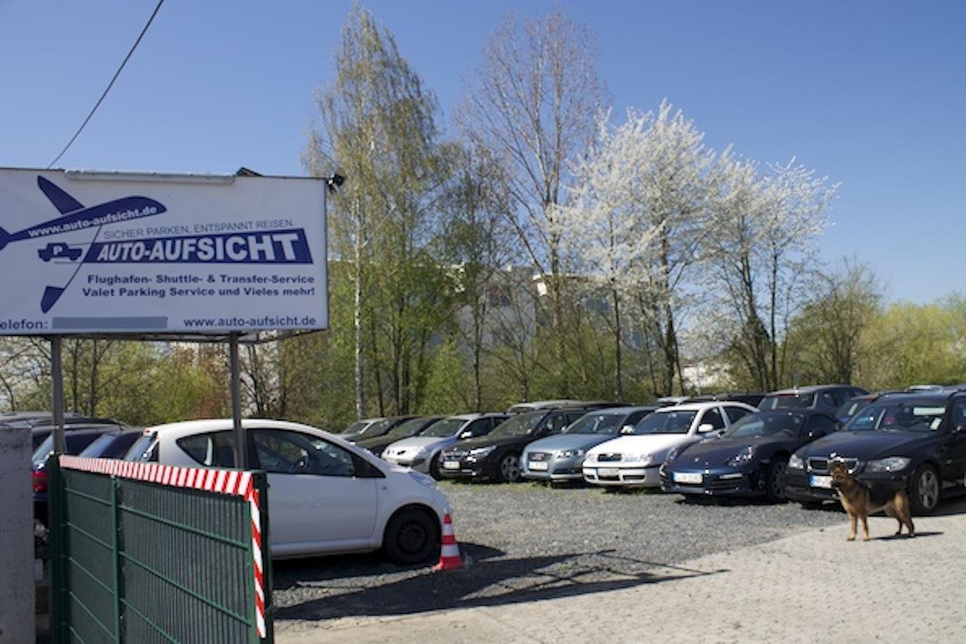 Auto-Aufsicht Parkplatz