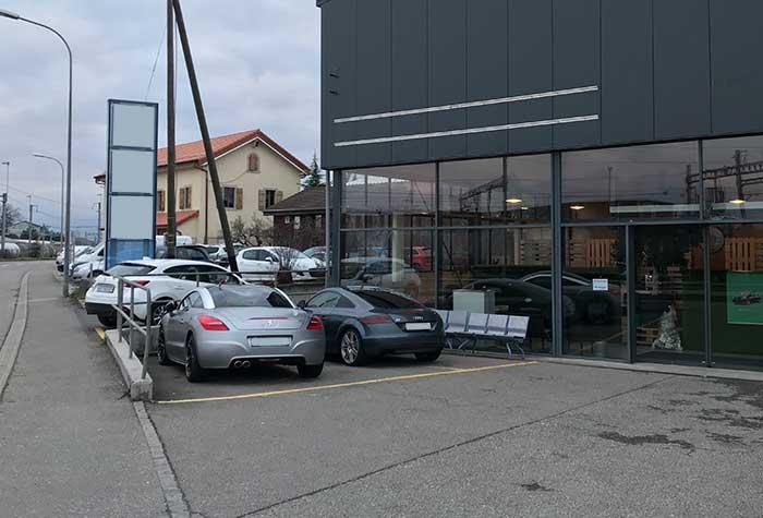 Aeropark Parkplatz Genf