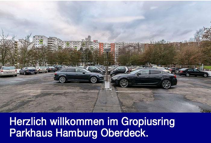 Gropiusring Parkhaus Hamburg Oberdeck