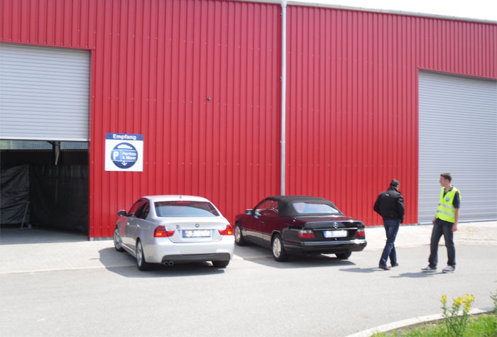Parken und Meer Parkplatz Kiel