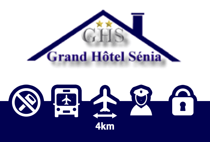 Grand Hotel Senia Parking Parkplatz Orly